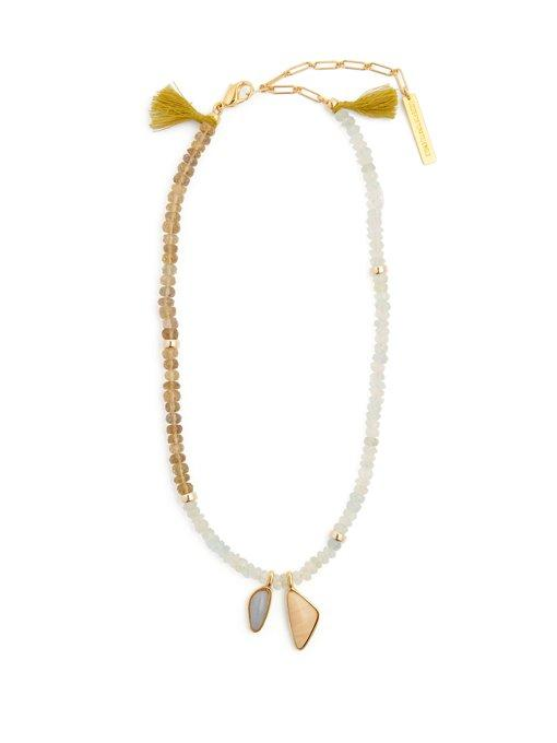 Lizzie Fortunato Marine Beaded Necklace In Blue