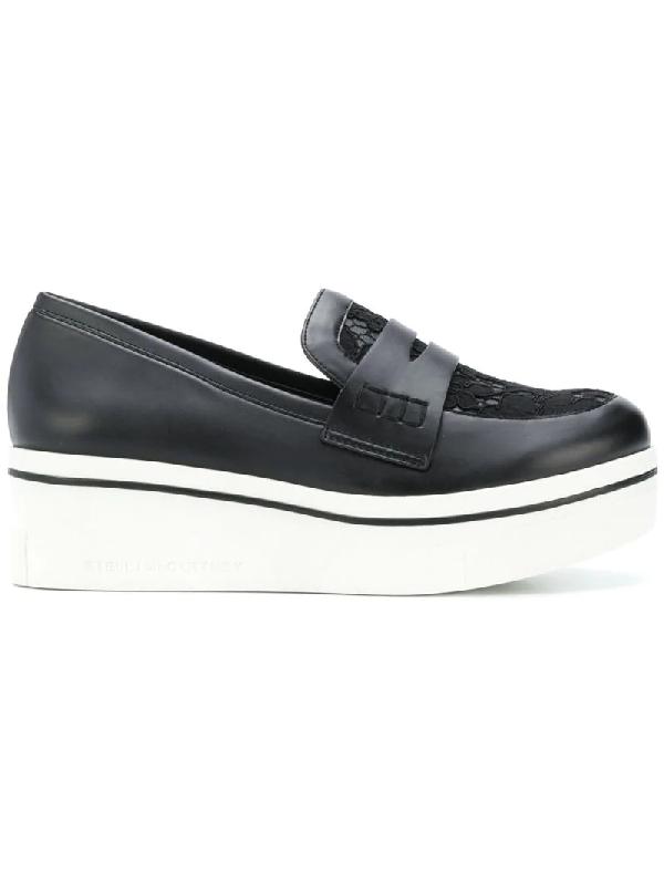 c9be9aca17ece Stella Mccartney Binx Lace Sneaker-Style Penny Loafer In Black ...