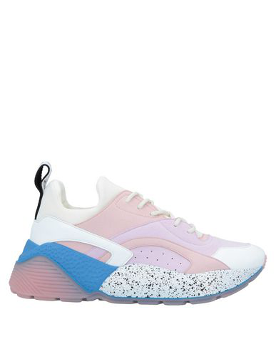 Stella Mccartney Eclypse Low-top Contrast-panel Trainers In 5777 Ros/wht/wis/sno/wg/b