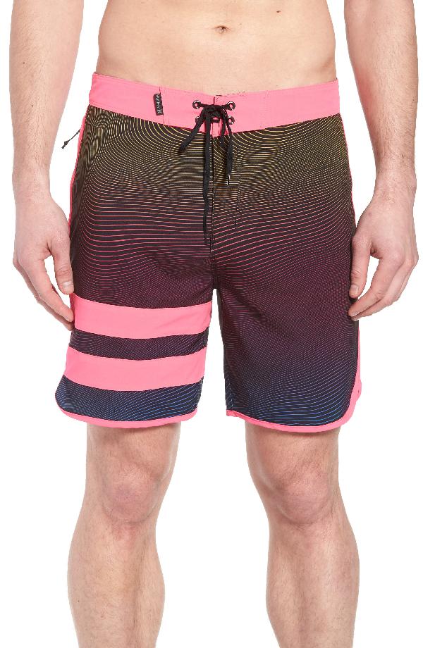 0771fe4925 Hurley Phantom Static Block Party Board Shorts In Pink Blast   ModeSens