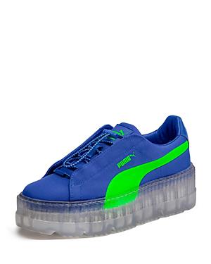 hot sale online 88f51 efd8c Fenty Puma X Rihanna Women's Cleated Creeper Surf Sneakers in Blue