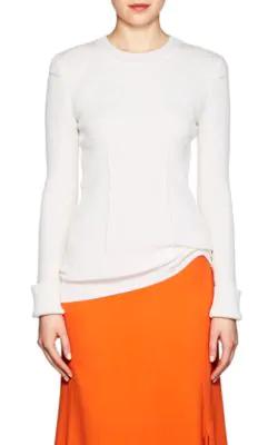 Victoria Beckham Rib-Knit Sweater - Ivory