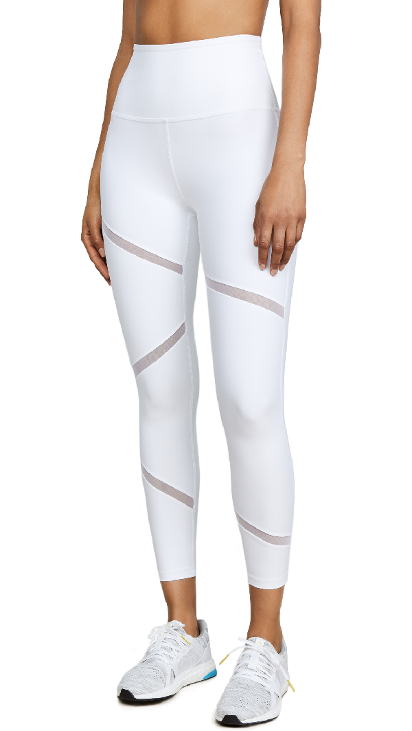 036bbf877ce639 Beyond Yoga Perfect Illusion High Waisted Midi Leggings In White ...