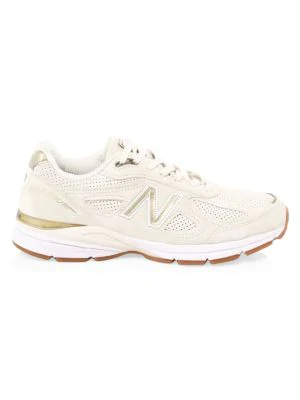 new arrival a12b4 72dbb Men's 990 V4 Running Sneakers From Finish Line in Angora/Angora