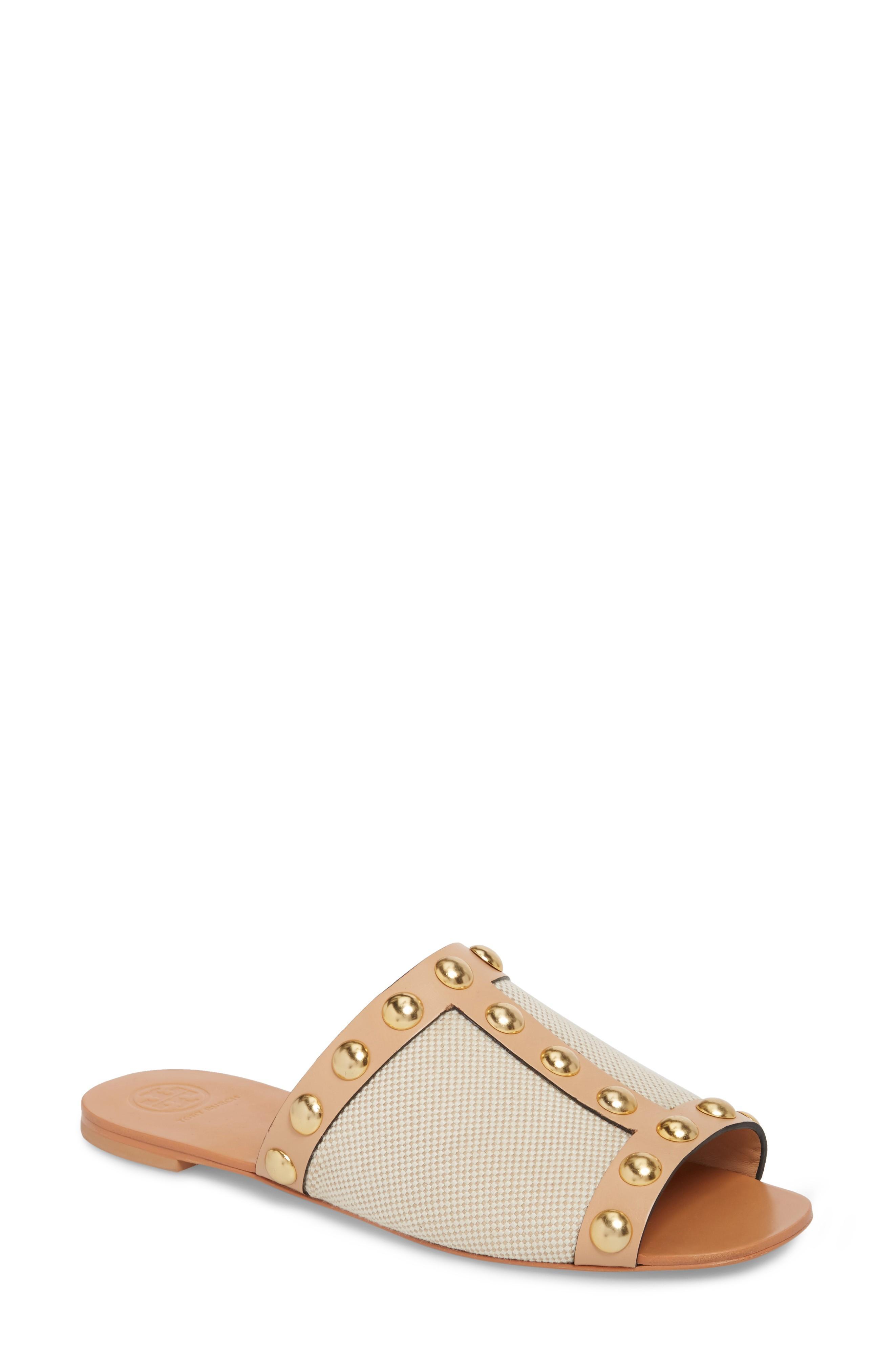 aefdc05c19a Tory Burch Blythe Slide Sandal In Sand  Natural Vachetta