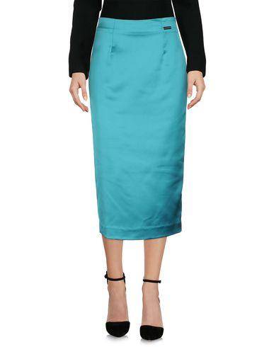 Alessandro Dell'acqua Midi Skirts In Emerald Green