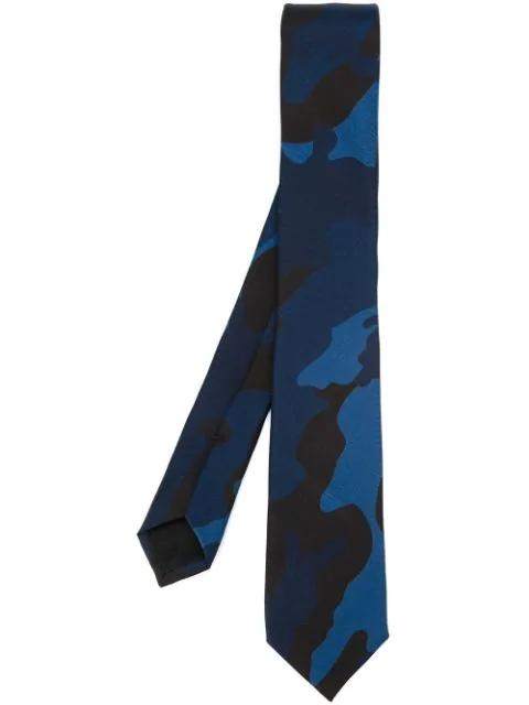 Valentino Camouflage Tie In Blue