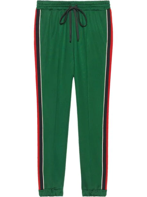 Gucci Technical Jersey Jogging Trousers In 3123 Green