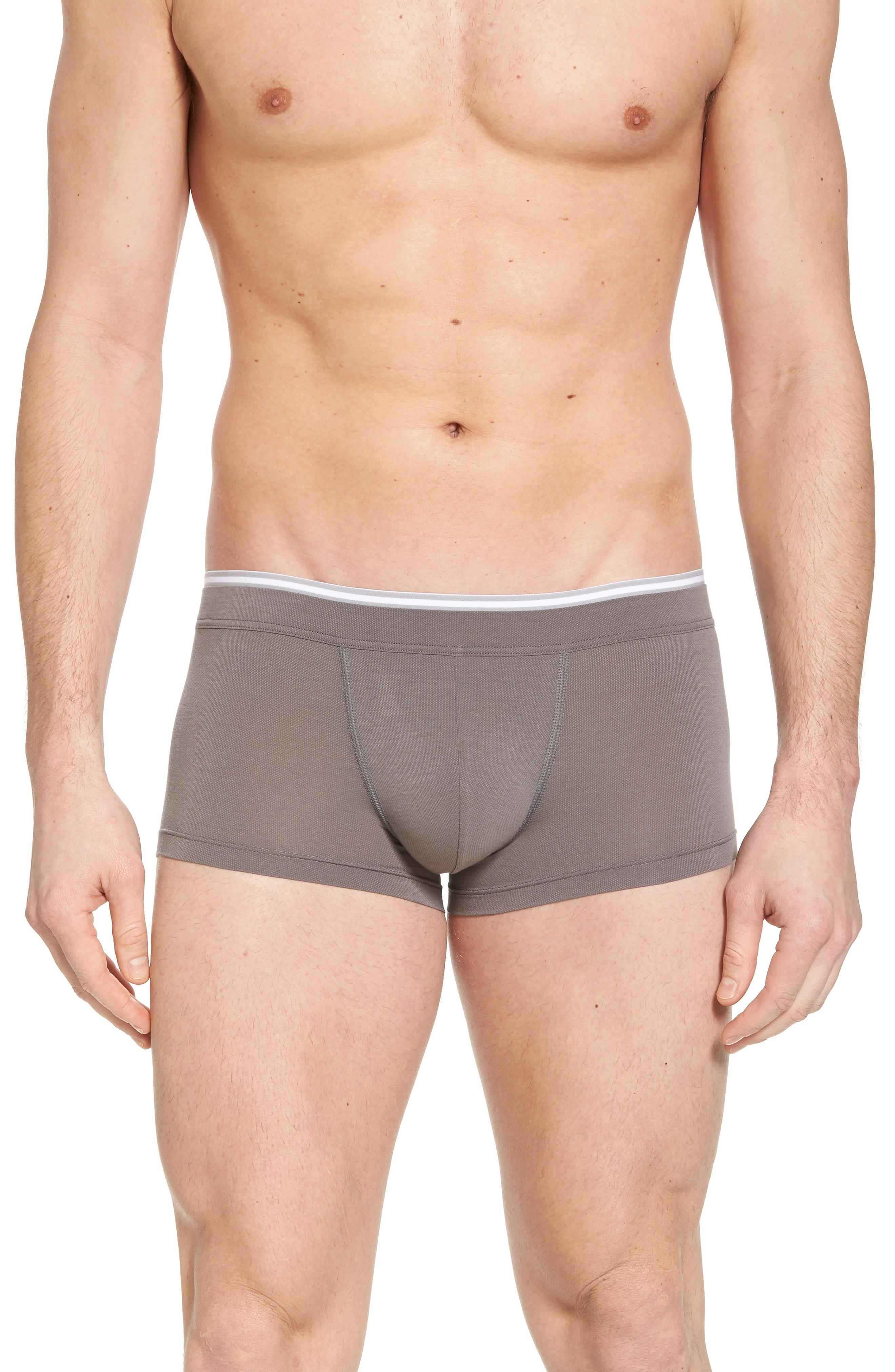 Hanro Liam Cotton Blend Trunks In Moonrock