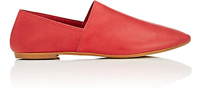 Barneys New York Leather Loafers In Red