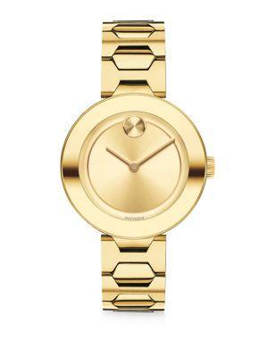 Movado Bold Goldtone Stainless Steel Bracelet Watch/32Mm