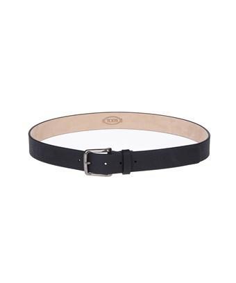 Tod's Men's  Black Leather Belt