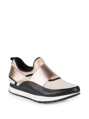 3dd9fae5408 Steve Madden Haro Colorblock Slip-On Sneakers In Gold