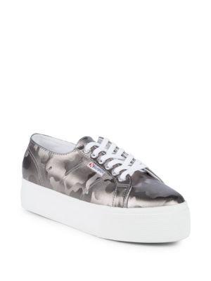 Superga Womens 2750 Army Chromw Sneaker