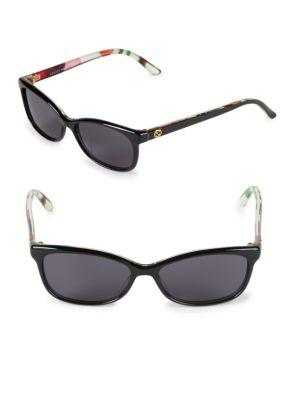 89b2a729c0264 60Mm Butterfly Sunglasses in Black