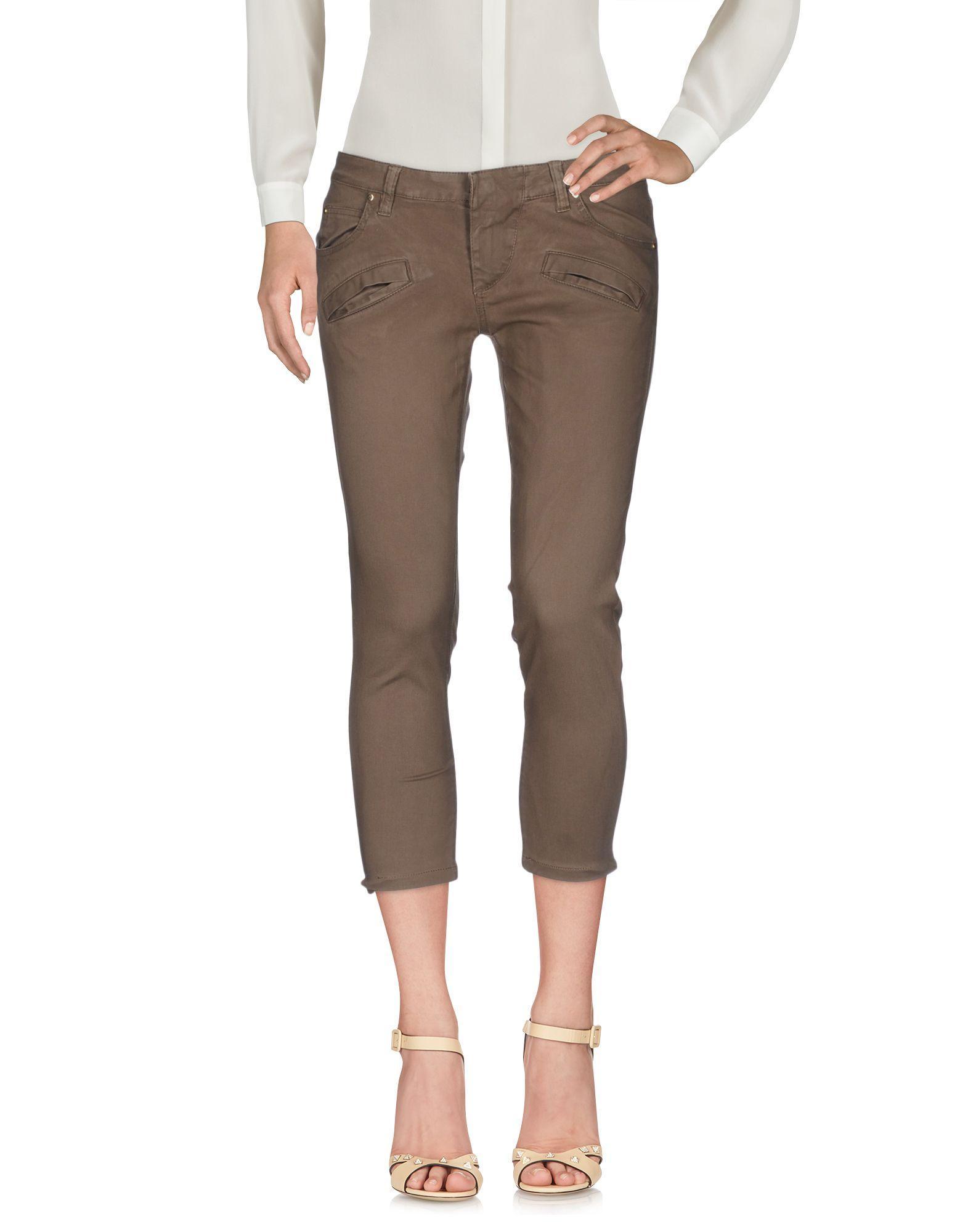 Pierre Balmain Cropped Pants & Culottes In Khaki