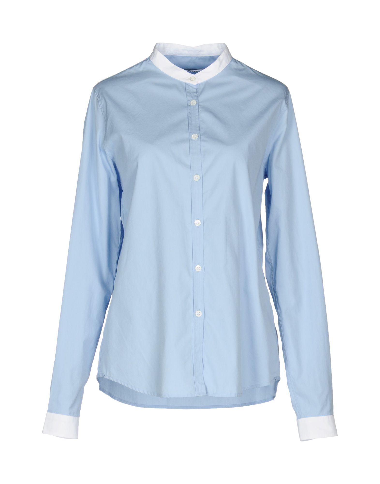 Barena Venezia Solid Color Shirts & Blouses In Sky Blue