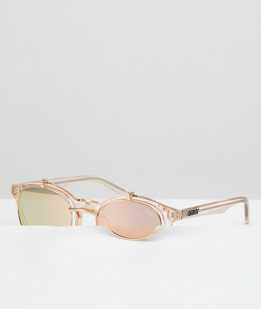 73de175e485b5 Quay Festival Collection Featuring Sofia Richie Penny Royal Round Sunglasses  In Champagne - Gold