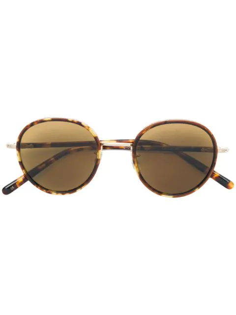 Eyevan7285 Tortoiseshell Round Sunglasses In Brown