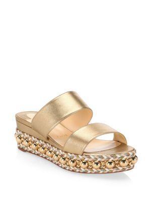 7734150bda33 Christian Louboutin Janitag Espadrille Wedge Sandals In Gold
