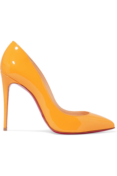5f5b083b912 Pigalle Follies 100 Patent-Leather Pumps in Yellow