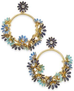 Kate Spade New York 14K Gold-Plated Drop Hoop Earrings In Blue Multi