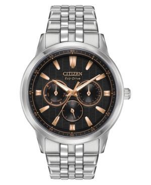 Citizen Eco-Drive Men's Corso Stainless Steel Bracelet Watch 44Mm In Silver-Tone