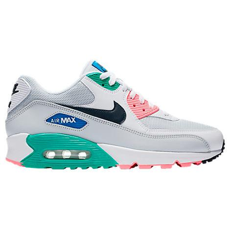 new product 3a0a4 c96c6 Nike Men s Air Max 90 Essential Casual Shoes, Pink White Green