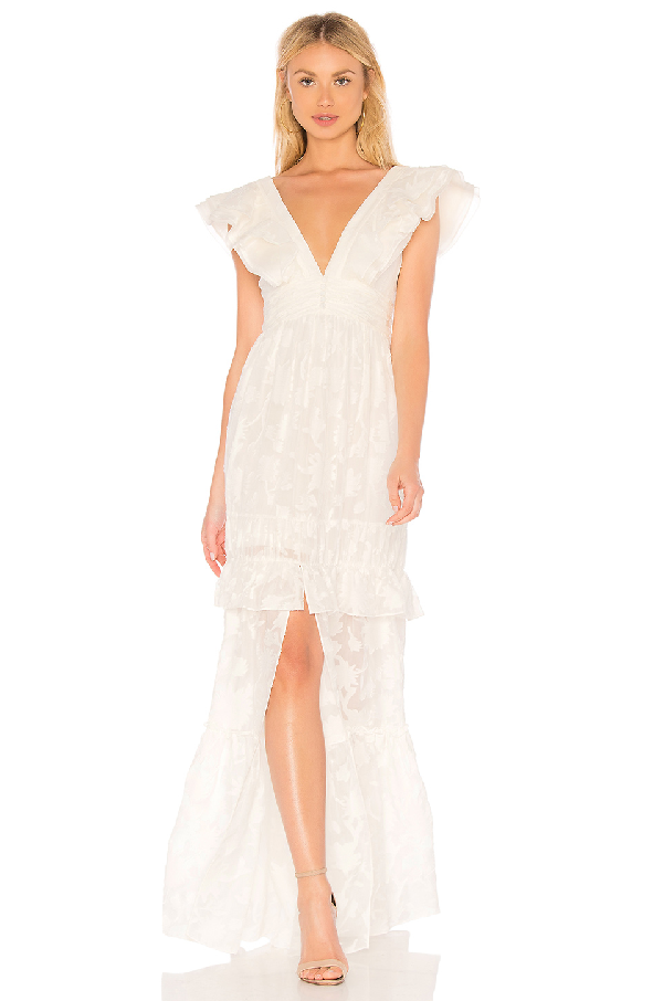 a638b2bb84 Rachel Zoe Violet Ruffled Fil CoupÉ Cotton And Silk-Blend Gown In Ecru