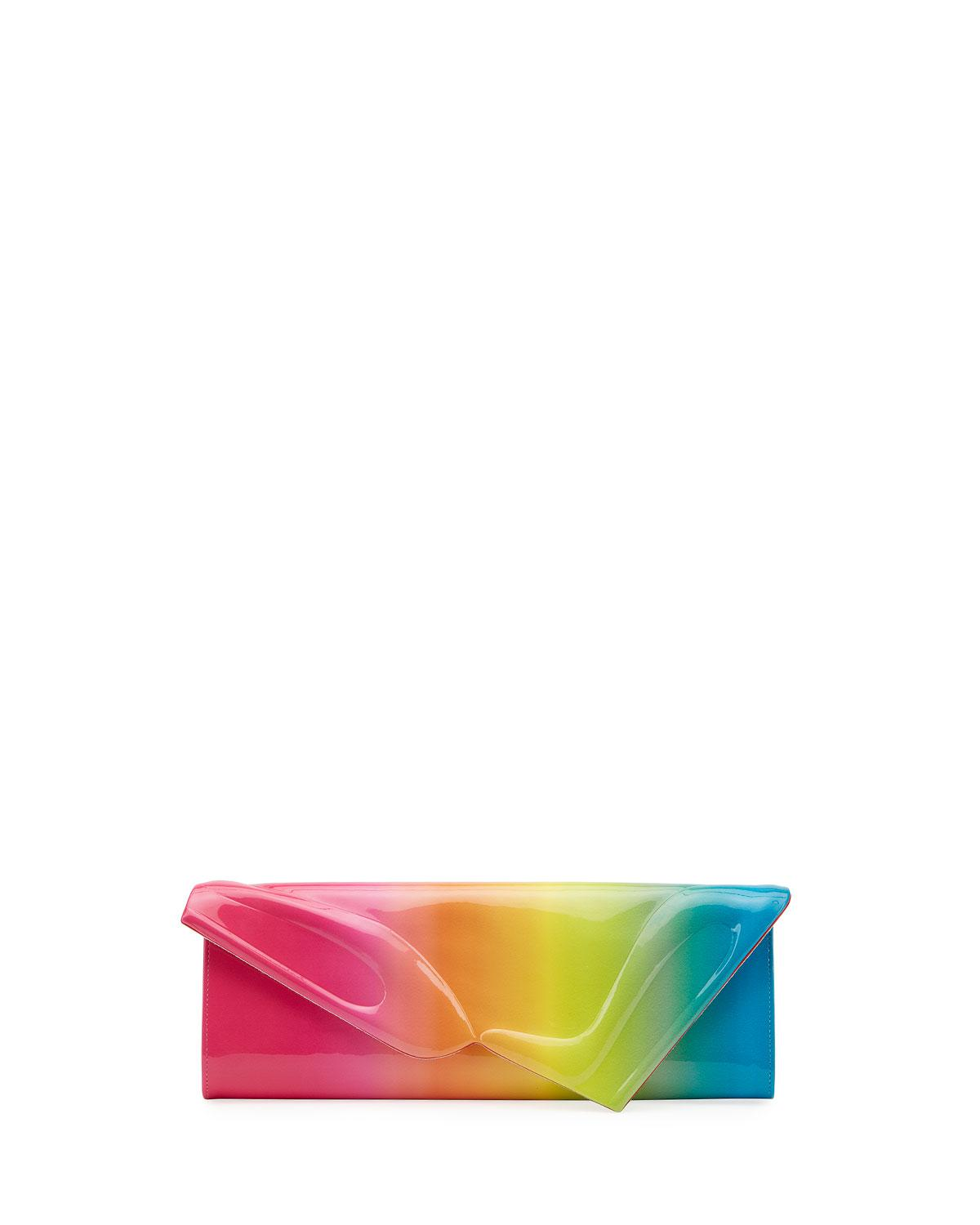 ed9742fb01ea CHRISTIAN LOUBOUTIN. So Kate Rainbow Ombre Patent Leather Clutch ...
