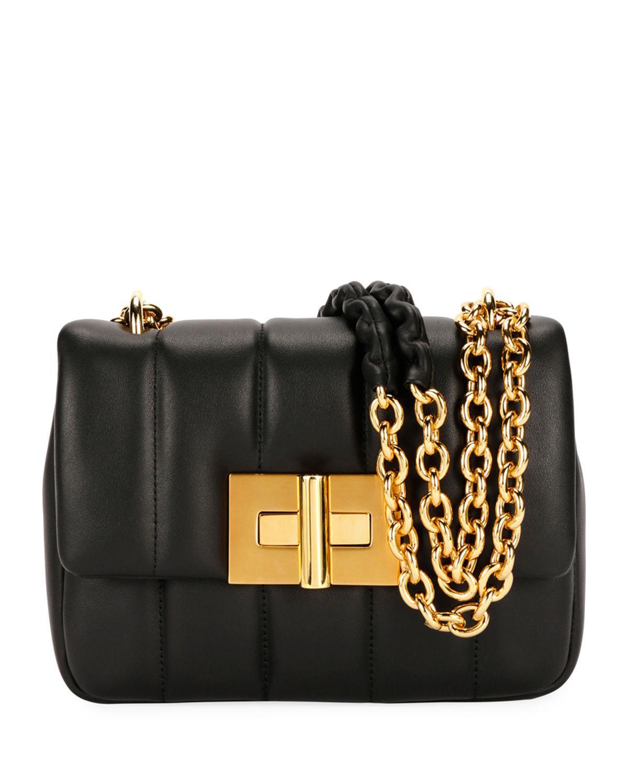 547ebb90c4dd1 Tom Ford Natalia MatelassÉ Leather Large Shoulder Bag In ...