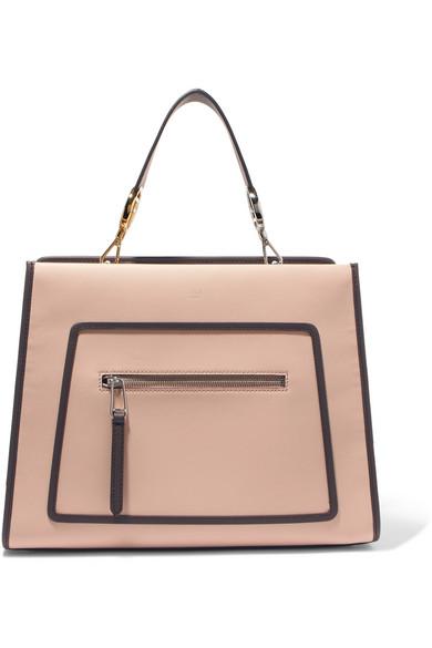 84e2c97401d3d Fendi Small Runaway Small Colorblock Leather Tote - Brown In Neutral ...