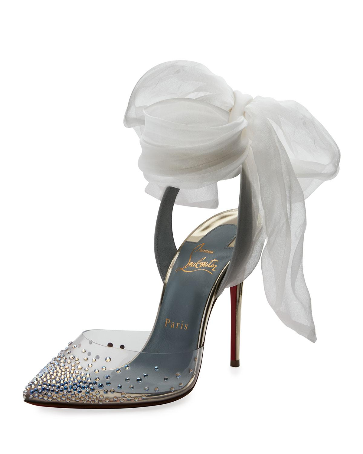 6c102ff4239 Christian Louboutin Miragirl Ankle-Wrap Red Sole Pumps In Gold ...