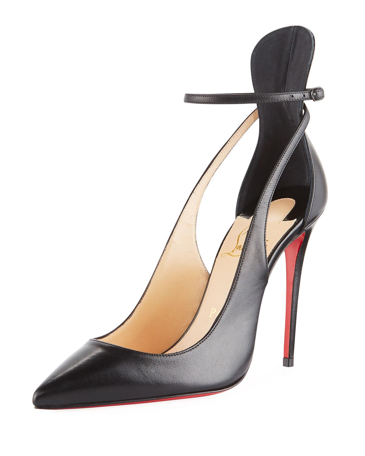 38c15f6a3806 Christian Louboutin Mascara 100Mm Leather Red Sole Pump In Black ...