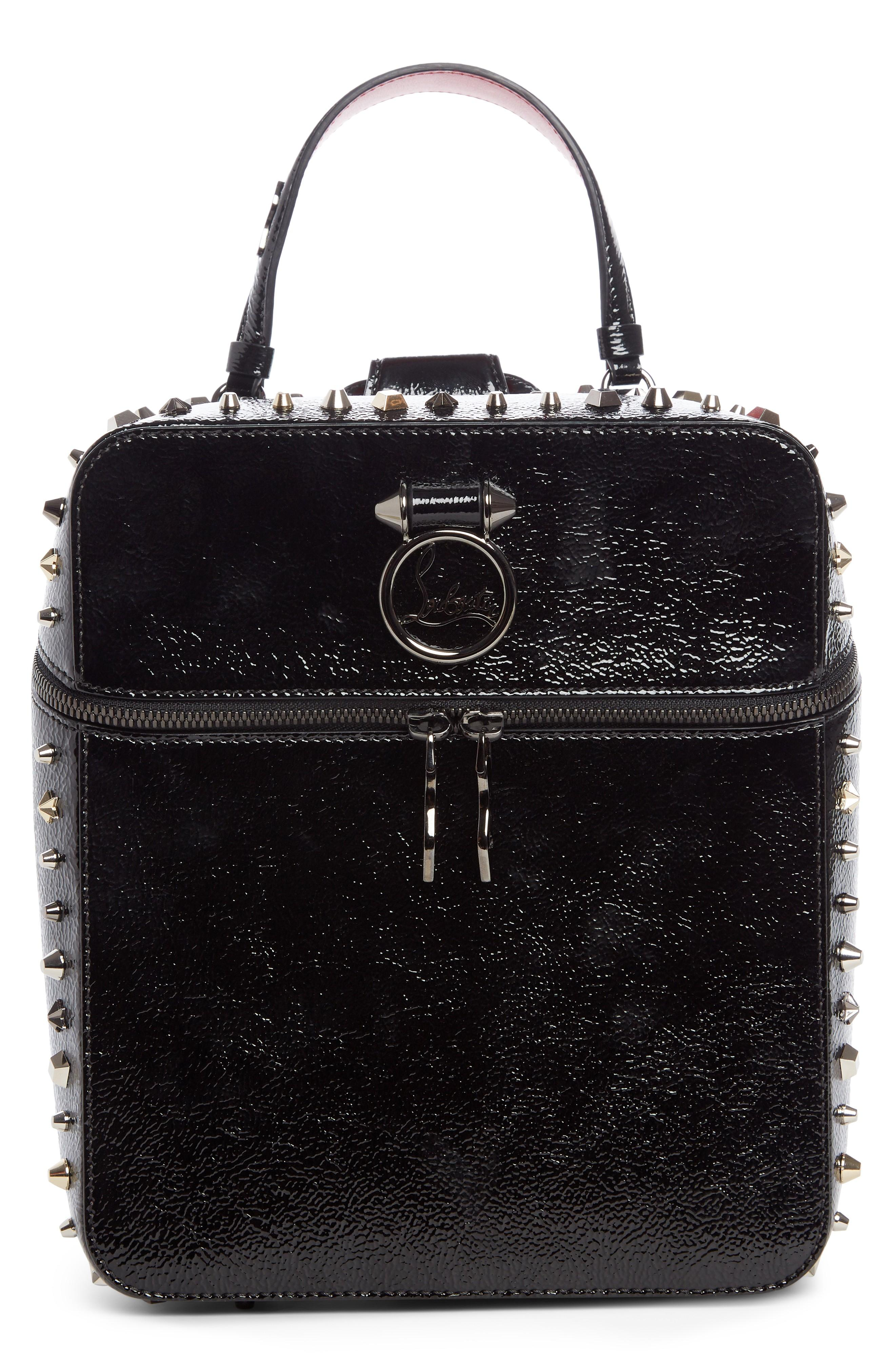 f64795ff03f RUBYLOU PATENT LEATHER BACKPACK - BLACK