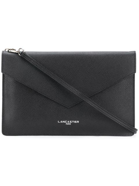 Lancaster Leather Crossbody Clutch In Black