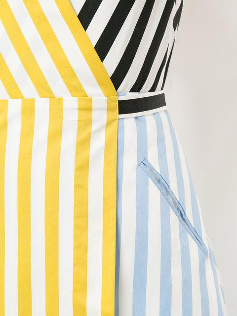 Anna October Striped Patchwork Dress In Multicolour