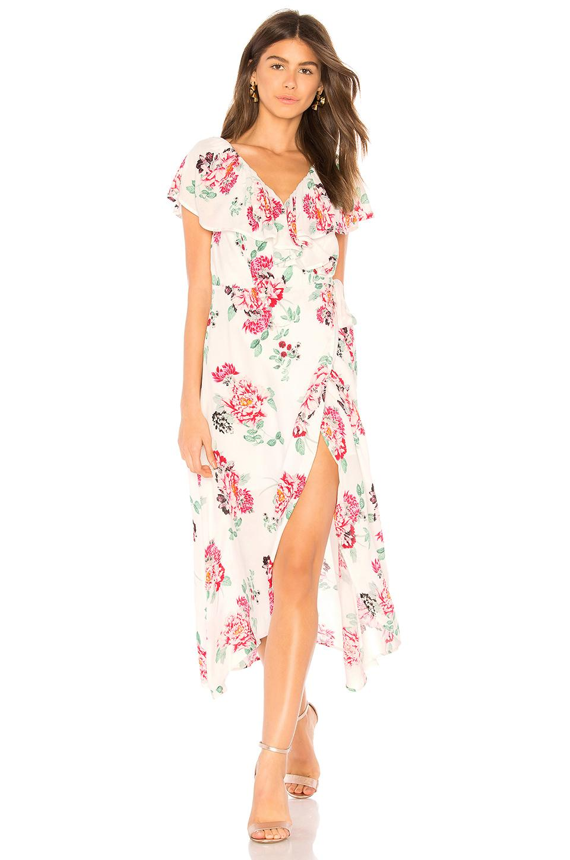 Minkpink Pretty Petals Wrap Dress In Multi