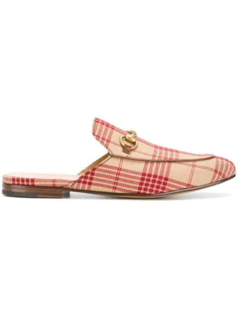 Gucci Princetown Jacquard Slipper In Neutrals