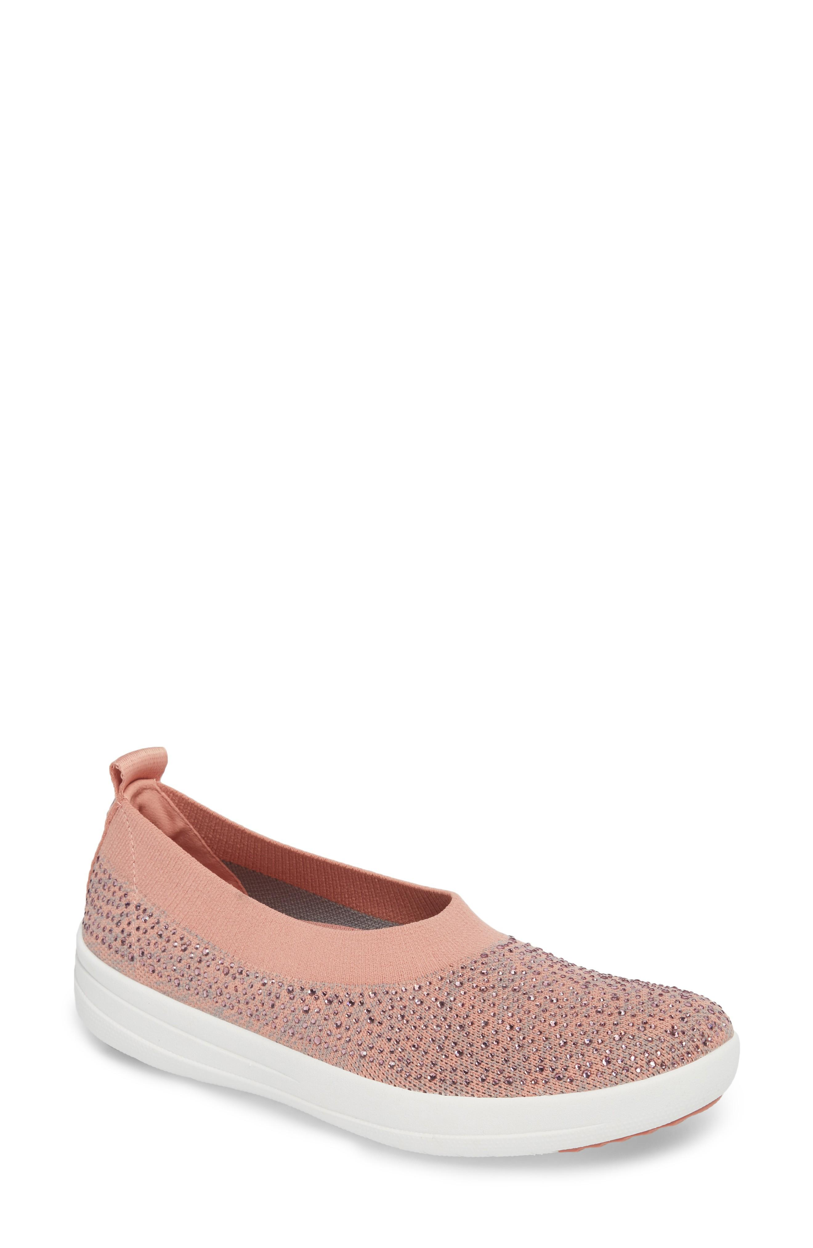 67fc3846e Fitflop Uberknit Slip-On Sneaker In Dusky Pink  Soft Grey
