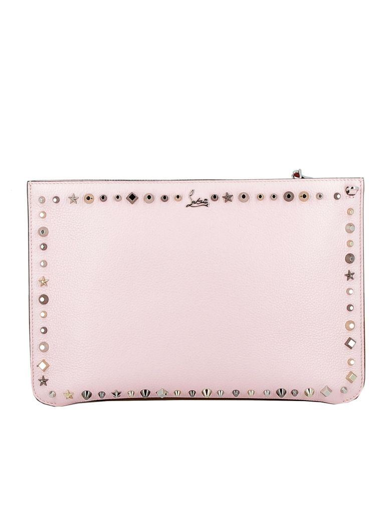 17047bc937c Pompadour Leather Clutch in Pink