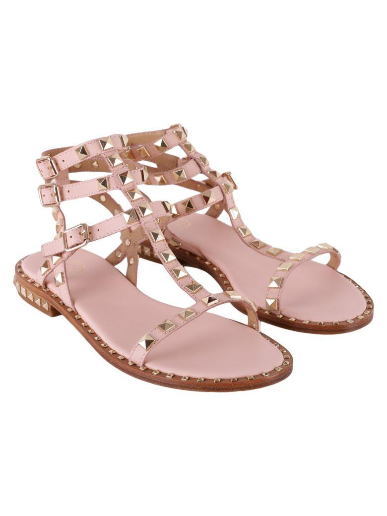df1db9ab377d Ash Poison Leather Sandals In Pink