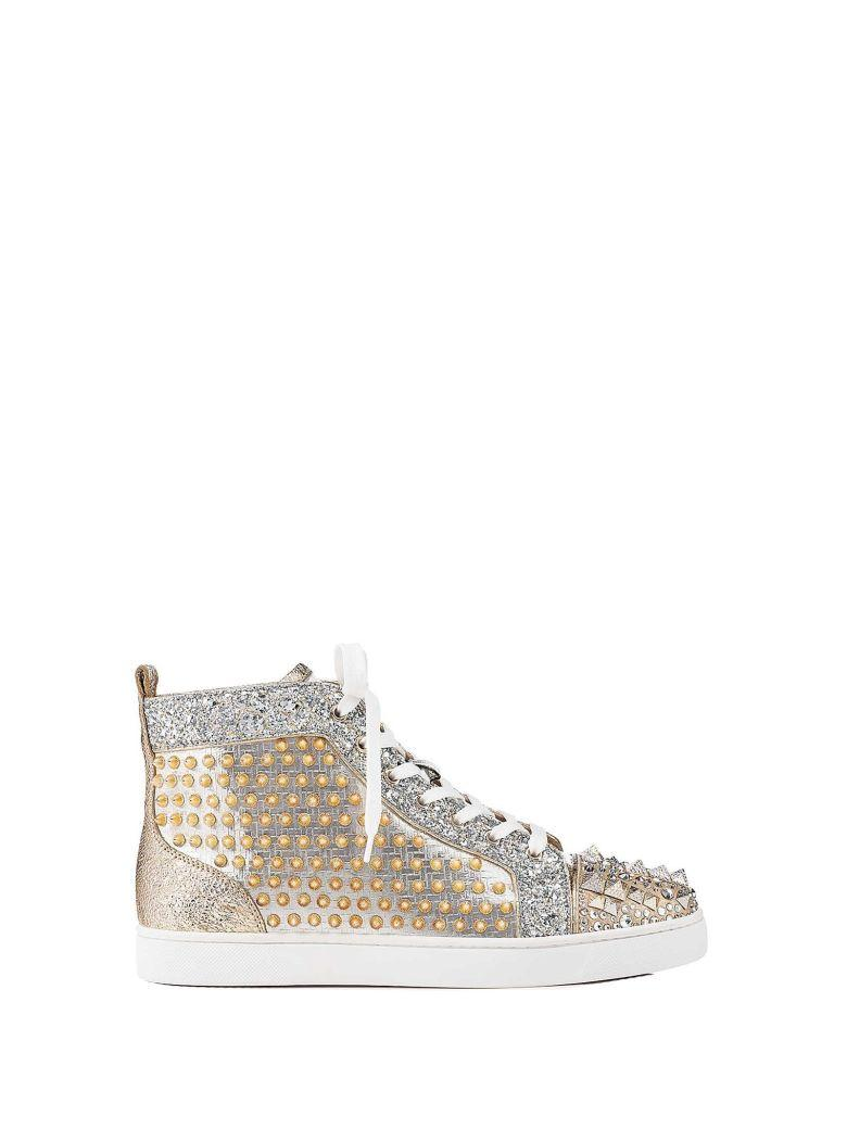 buy online ae354 789eb Louboutin Mixkeoshell Flat Sneakers in Silver Light Gold