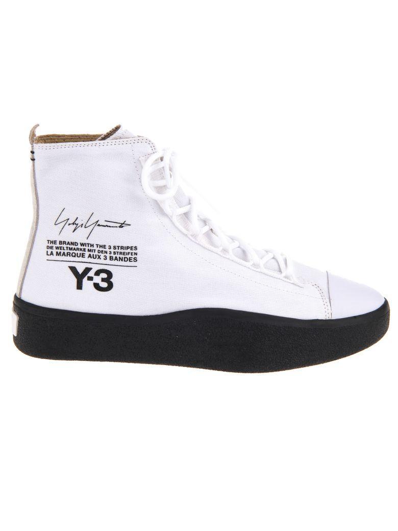 cbde95cb4 Y-3 High-Cut Sneakers In Ftw White Core Black