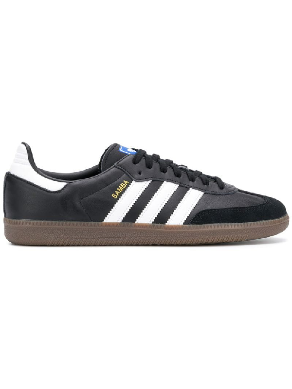 865b4dbe3 Adidas Originals Men's Samba Og Leather Lace-Up Sneakers In Black ...