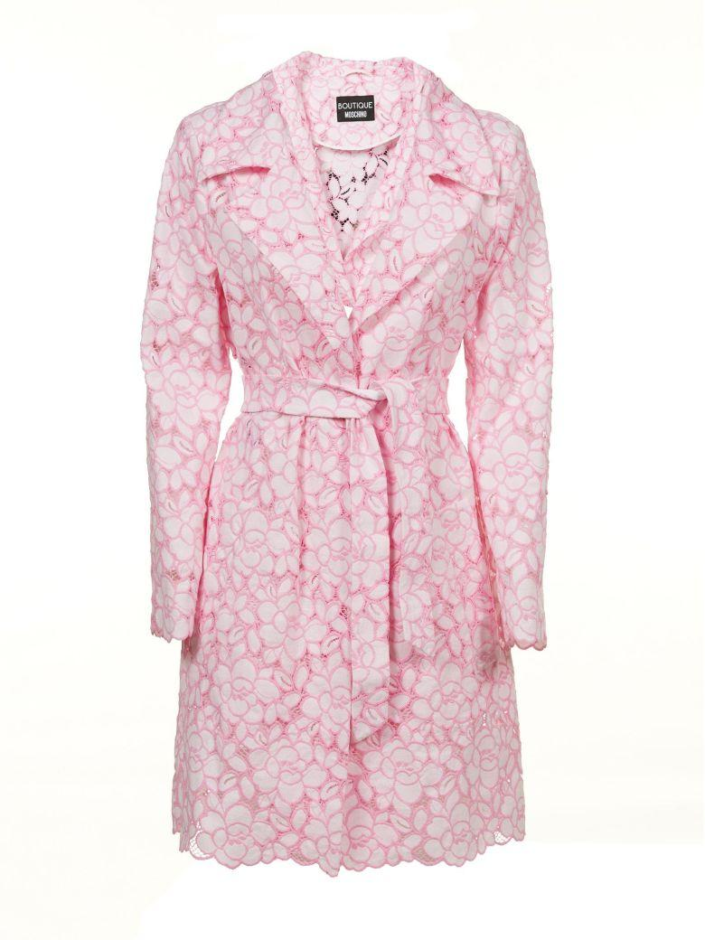 Moschino Boutique  Lace Coat In Rosa