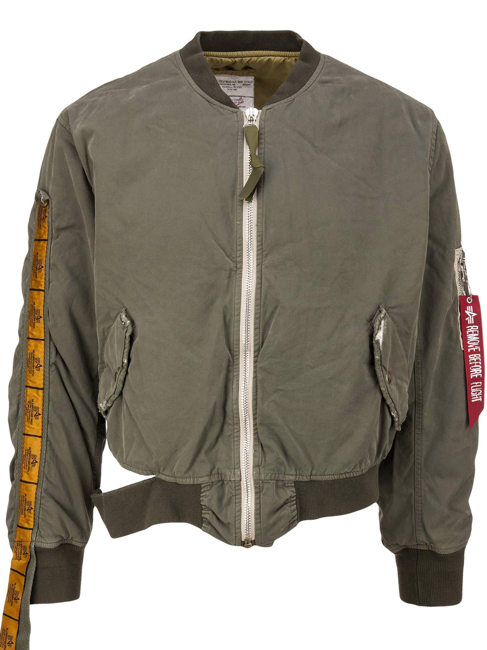 6bfb248f3 424 X Alpha X Slam Jam Jacket in Ma-1 Special Sleeve