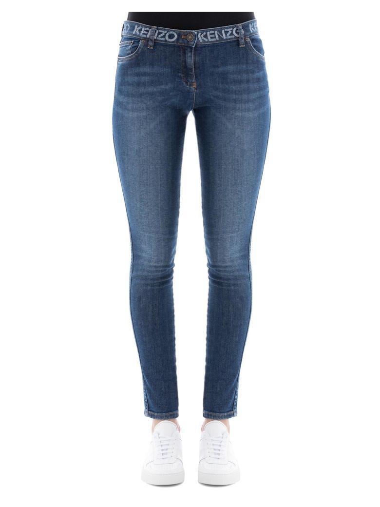 Kenzo Blue Cotton Jeans