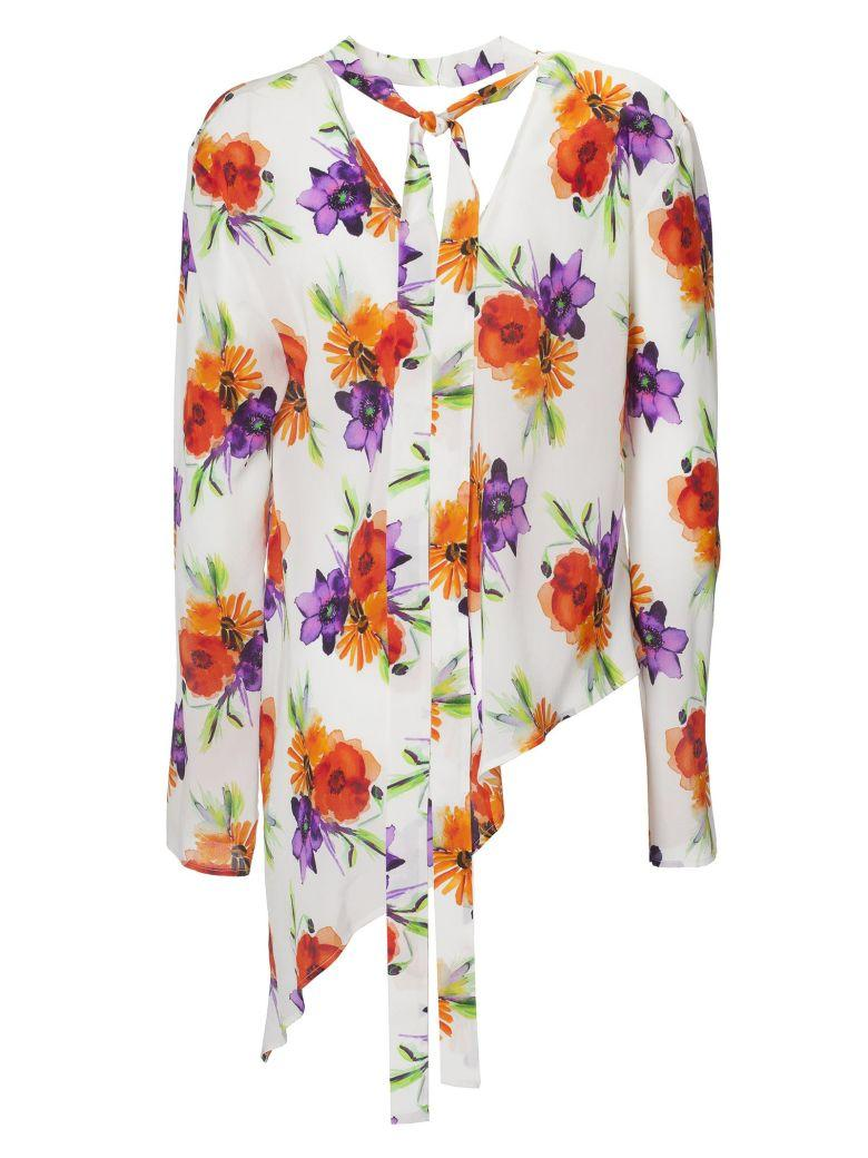 Msgm Floral Blouse In Multicolor