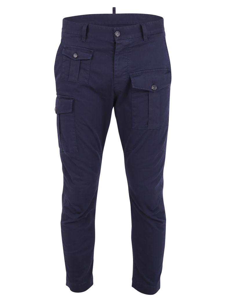 Dsquared2 Blue Cargo Trousers